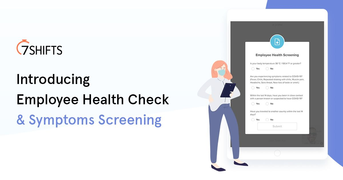 [New] Employee Health Check & Symptoms Screening for Restaurants