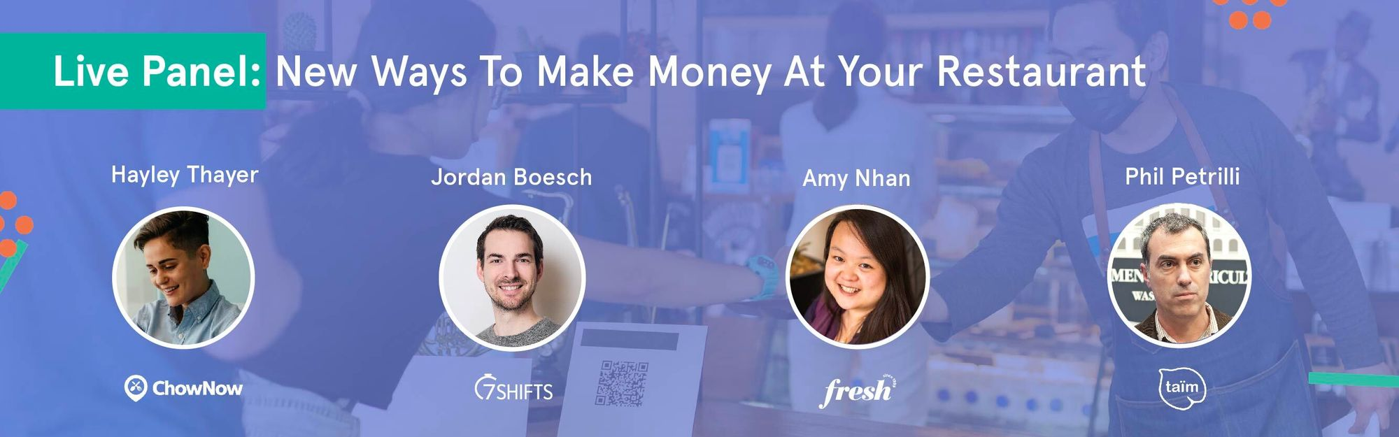 Live Panel: New Ways To Make Money At Your Restaurant