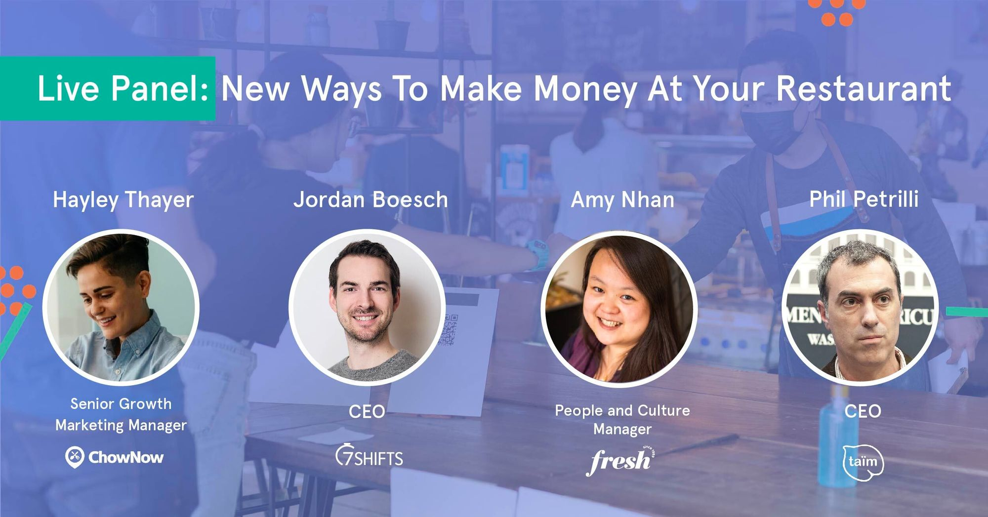 [Live Panel Recap] New Ways to Make Money at Your Restaurant
