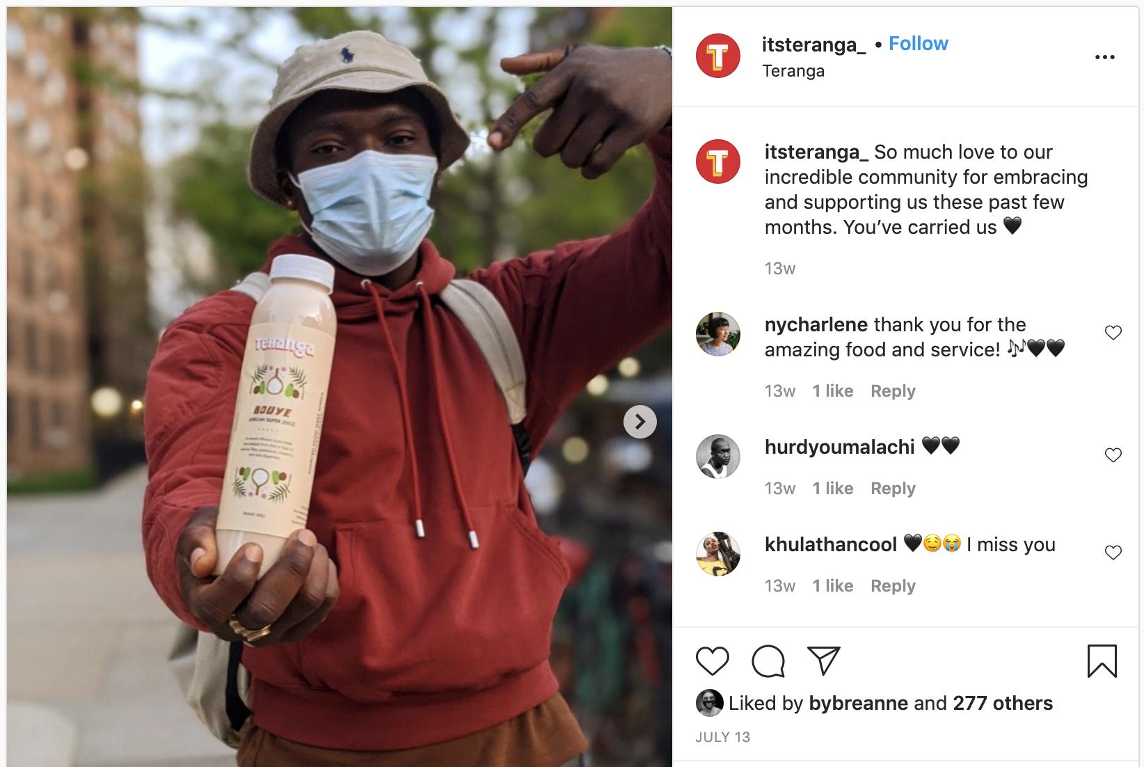 Teranga Instagram post