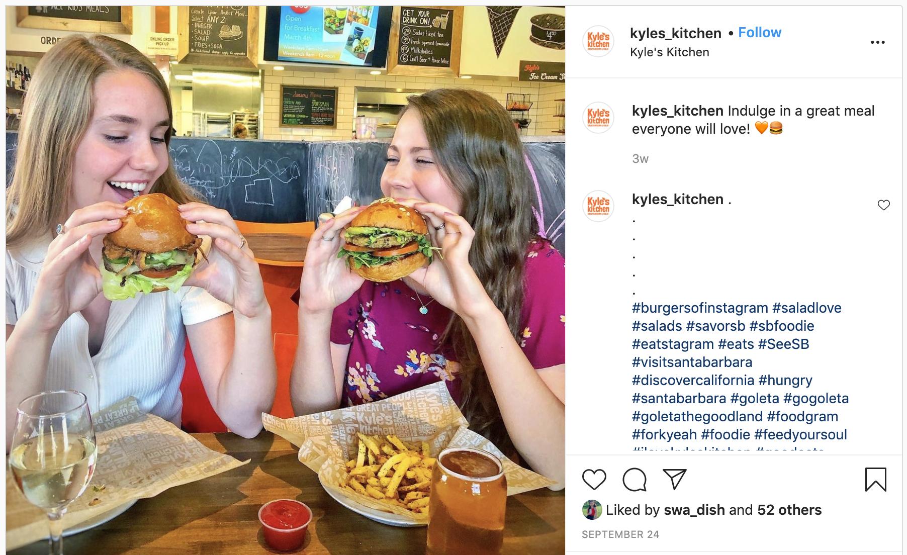 Kyle's Kitchen Instagram post