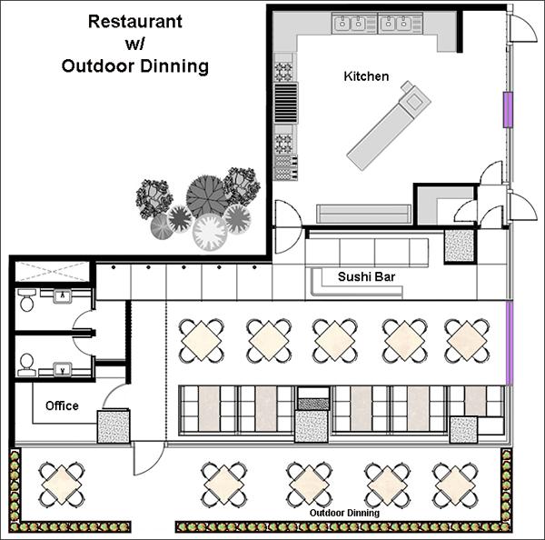 Restaurant Floor Plan for outdoor seating
