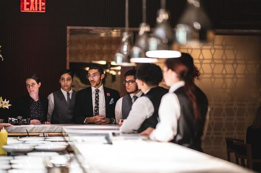 team in a restaurant