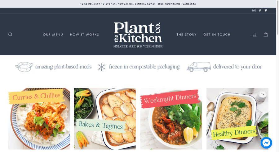 Plant the Kitchen website screenshot