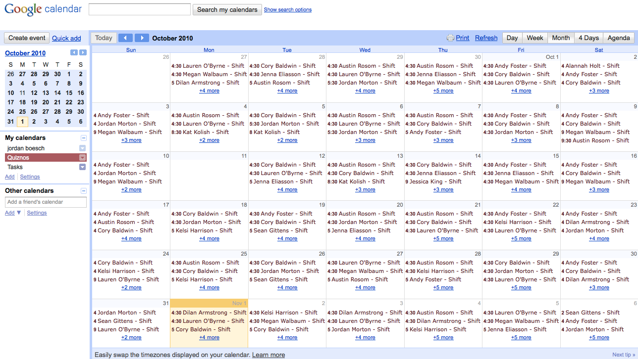 sync schedules with google calendar and ical 7shifts